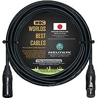 50 英尺 - 平衡麦克风电缆由 WORLDS BEST CABLES 定制 - 使用 Mogami 2549 (黑色…