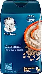 Gerber 单谷物燕麦婴儿谷物,8盎司,227克(6瓶)