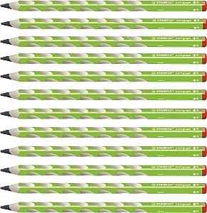 STABILO 思笔乐 书写铅笔 EASYgraph HB 绿色 适用右手书写者 12只装