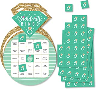 Big Dot of Happiness Final Fiesta - Bar Bingo 卡片和记号笔 - Last Fiesta 单身派对形状宾果游戏 - 18 件套