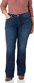 Silver Jeans Co. 女士加大码 Avery 曲线修身高腰修身微喇牛仔裤