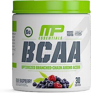 MusclePharm 支链氨基酸粉,每份含6克支链氨基酸,运动后恢复饮料,用于肌肉恢复和肌肉构建,树莓味,30份量