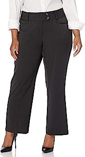 Rafaella 女式加大码曲线修身短款华达呢裤