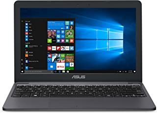 ASUS VivoBook E203MA超薄笔记本电脑,Intel Celeron N4000处理器(高达2.6 GHz),4GB LPDDR4,64GB eMMC闪存,11.6英寸高清显示器,USB-C,Windows 10 S模式,E203...