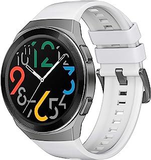 华为 Watch GT 2e - 带心率测量,音乐播放和蓝牙电话 - 5ATM 防水 55025290 GT 2e icy white