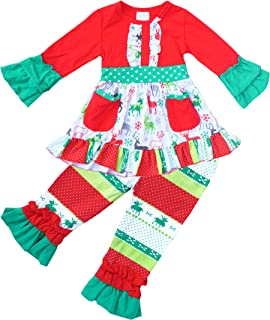 Baby Toddler 女童圣诞老人驯鹿套装或连衣裙