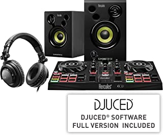 Hercules DJLearning Kit (2 - Deck DJ 控制器 2.0 扬声器 DJ 耳机)