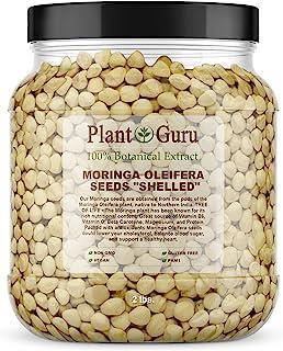 Moringa 种子 Kernel Shelled 2 磅宽口罐 - 干净的 PKM1 品种 - 可食用-辣木油 - Malunggay - Semillas De Moringa - 鼓棒树 - 非转* - 4000 至 4800 种子约