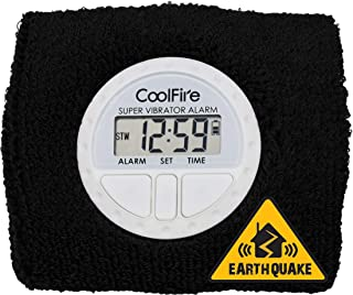 CoolFire 振动闹钟 – 静音闹钟腕带振动闹钟手表静音手腕震动闹钟。振动闹钟手链闹钟深度*和振动闹钟,带 USB 充电 1685E