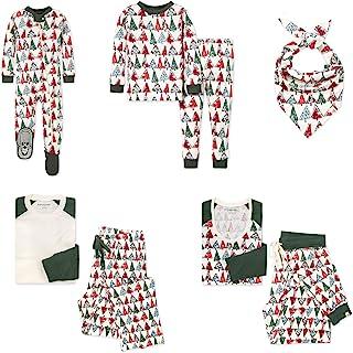 Burt's Bees Baby Baby Baby 家庭睡衣,配套假日睡衣,*棉睡衣