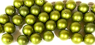 36 颗复古橄榄珍珠珠 - 5/8 英寸(14 毫米)用于珠宝、工艺品、DIY、手链项链