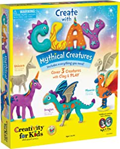 Creativity for Kids Creativity with Clay Mythical Creatures - 儿童感官艺术和手工艺品