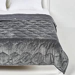IRVINE HOME COLLECTION 竹制加重毯子,40 x 60 双人床/全尺寸10 磅儿童,7 层,天然竹棉带优质玻璃珠,透气凉爽竹,通过 Oeko-Tex 认证