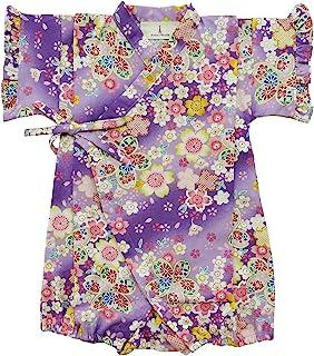 安娜尼可拉 樱花花花朵图案 婴儿甚平 连体衣 女童 日本制造 11154 多色 80