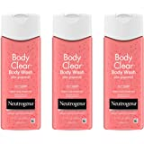 Neutrogena 露得清 Body Clear 祛痘沐浴露 含水杨酸* 粉色 葡萄柚身体祛痘洁面乳 防止背部、胸部和…