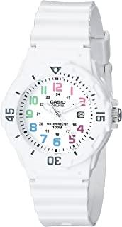 CASIO 卡西欧 LRW-200H-2BVCF 女士不锈钢树脂带手表,白色