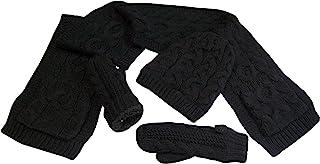 N'Ice Caps 女童保暖夏尔巴内衬针织布料 3 件套配件套装