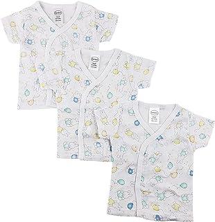 中性款 Preemie Baby 3 件装,6 件装短袖侧按扣,长袖侧按扣衬衫,连指袖口,* 棉,男孩,女孩