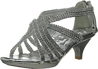 Shoe Dezigns Angel 41K 小女孩水钻鞋跟防水台礼服凉鞋 银色