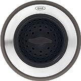 OXO 13259500 Good Grips 二合一水槽过滤器塞,黑色,水槽过滤器带塞子