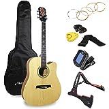 Martin Smith Premium 原声吉他套装,带吉他调谐器,吉他包,吉他支架,吉他拨片和支架,W-800-N…