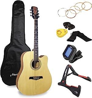 Martin Smith Premium 原声吉他套装,带吉他调谐器,吉他包,吉他支架,吉他拨片和支架,W-800-N-PK