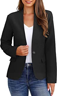 GRAPENT 女式商务休闲口袋工作办公室西装外套