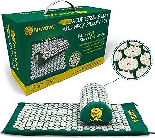 Nayoya 背部和颈部*缓解- 压迫垫和枕头套装 - 随附乙烯基携带袋,用于存储和旅行