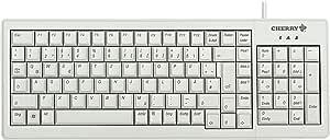 Cherry XS USB/PS2 完整键盘 - 浅灰色