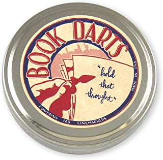 Book Darts 125 支锡黄铜书签 - 行书标记
