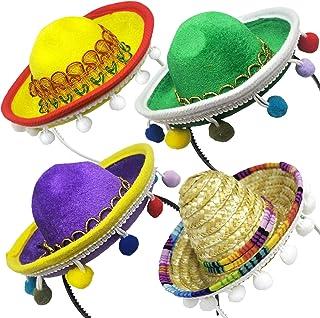 * 1 部分 Cinco De Mayo Sombrero 头带帽 - 迷你墨西哥 Sombrero 派对帽子装饰适合嘉年华狂欢节生日 Coco 主题和派对用品 - Sombrero 派对帽子