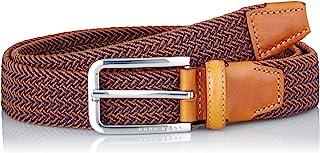 BOSS 男士 Clorio Sz30 编织弹力腰带,带皮革镶边