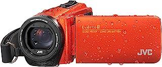 JVC GZ-R495 高清四挡 40 倍变焦坚韧摄像机 - 橙色