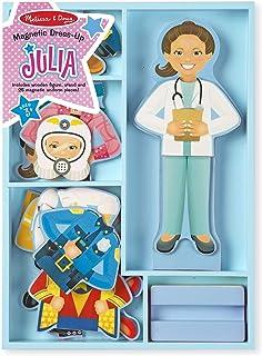 Melissa & Doug Julia磁力木制娃娃换装套装(25+片)