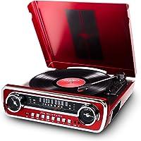 ION Audio Mustang LP USB音箱式唱片机/收音式复古电唱机,辅助输入/Vinyl-MP3 转换软件…