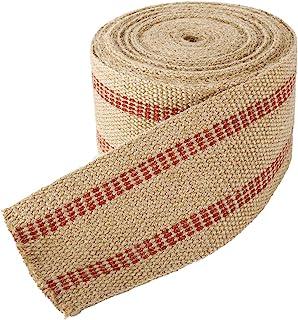YaeCCC 手工黄麻织带,3.5 英寸 x 10 码每卷 11 磅