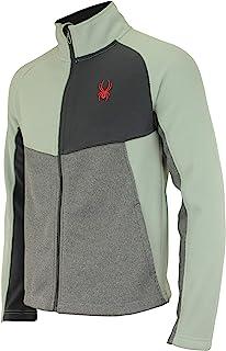 Spyder 男式 Heath 拼色全拉链毛衣,颜色变化