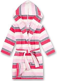 Sanetta 女童 Camellia 玫瑰一件浴袍由柔软的毛巾布丝绒粉红色条纹,舒适贴合