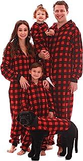 #followme Matching Family Buffalo 格子图案成人连体衣儿童连体衣
