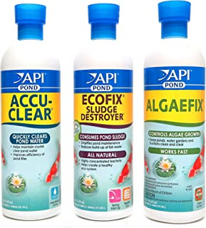 API 池塘护理套装,Accu-Clear,EcoFix & AlgaeFix,16盎司(473ml)