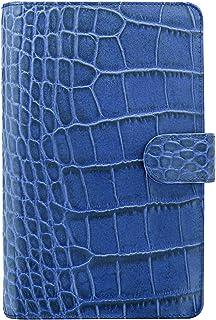 filofax 斐来仕 026007 Classic Croc compact A6 靛蓝色 鳄鱼皮纹 活页记事本 笔记本 日记本 活页本 手帐 手册 钱夹 卡夹 万用手册 2017年日程本
