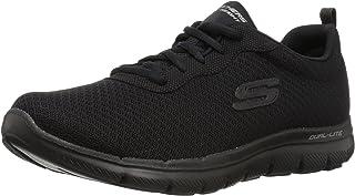 Skechers 女式 FLEX APPEAL 2.0newsmaker 运动鞋,黑色