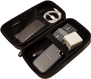 适用于智能手机和相机配件的硬质保护旅行盒,整理您的充电器、交流适配器、便携式 SSD 硬盘、电缆、耳塞等于一个外壳(注意:仅保护套)