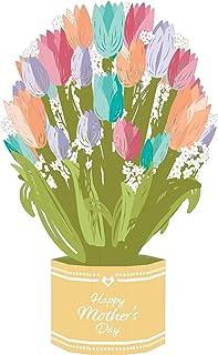 Lovepop 郁金香盛大花束 - 母亲节卡片,妈妈们的卡片,弹出式花朵,3D 花卡,母亲节花朵,母亲节弹出卡,弹出式花朵花束
