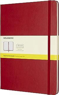 Moleskine 硬面方格猩红色笔记本 (加大型)