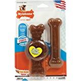 Nilabone 只为小狗狼圈和弹性骨头小狗咀嚼玩具,组合装