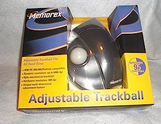 Memorex - 轨迹球 - 3 个纽扣 - 有线 - 黑色、米黄色 - 零售