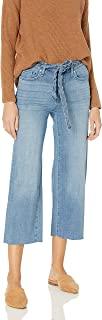 William Rast 女式高腰阔腿七分牛仔裤