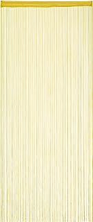 Relaxdays 纱帘,90 x 245 厘米,拉绳,缩短,门窗线,线帘,可洗,金色