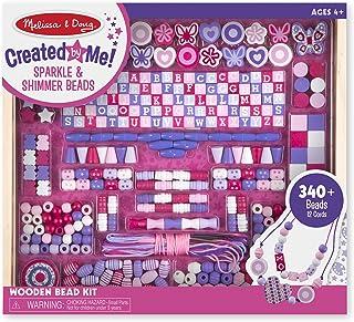 Melissa & Doug 美國瑪莉莎 豪华精选木珠套装,送给男孩和女孩的一份完美礼物——适合4、5、6、7和8岁的孩子